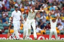 James Pattinson appeals for the wicket of Graeme Smith