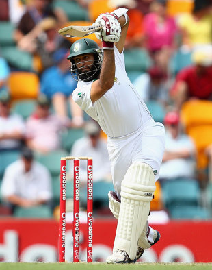 Hashim Amla drives past cover, Australia v South Africa, 1st Test, Brisbane, 1st day, November 9, 2012