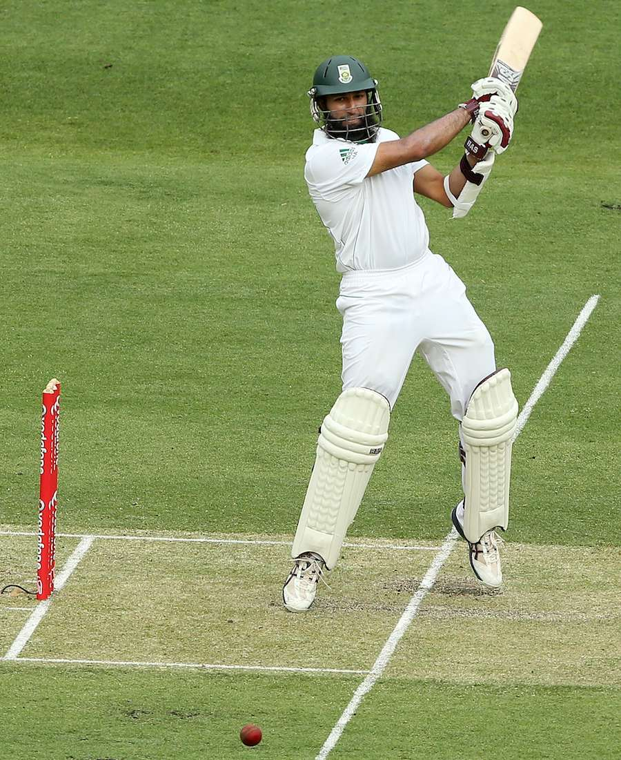 Hashim Amla cuts on tip toe, Australia v South Africa, 1st Test, Brisbane, 1st day, November 9, 2012