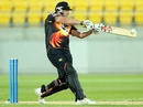 Jesse Ryder pulls during his 90 off 57 balls, Wellington v Canterbury, HRV Cup, Wellington, November 9, 2012