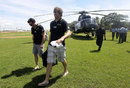 Rob Nicol and Jacob Oram arrive in Hambantota, November 9, 2012