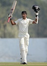 Rahul Dewan brings up his century, Haryana v England XI, Ahmedabad, 3rd day, November 10, 2012