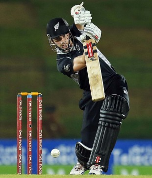 Kane Williamson drives, Sri Lanka v New Zealand, 4th ODI, Hambantota, November 10, 2012
