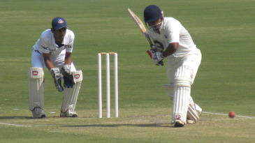 Kedar Jadhav on his way to a triple-century against Uttar Pradesh