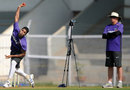 Duncan Fletcher watches Umesh Yadav bowl, Mumbai, November 10, 2012