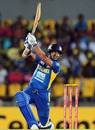 Kumar Sangakkara plays towards the off side, Sri Lanka v New Zealand, 4th ODI, Hambantota, November 10, 2012