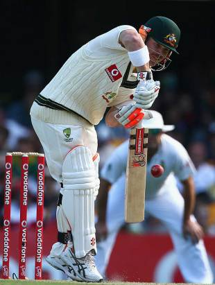 David Warner fell cheaply, Australia v South Africa, 1st Test, 3rd day, Brisbane, November 11, 2012