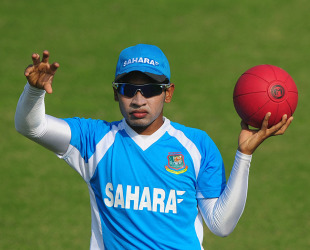 Bangladesh captain Mushfiqur Rahim at practice, Mirpur, November 11, 2012