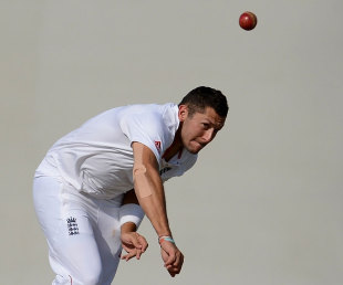 Tim Bresnan claimed two wickets but England could not force victory, Haryana v England XI, Ahmedabad, 4th day, November 11, 2012