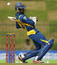 Upul Tharanga weaves away from a short ball, Sri Lanka v New Zealand, 5th ODI, Hambantota, November 12, 2012