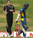 Tim Southee gets rid of Lahiru Thirimanne, Sri Lanka v New Zealand, 5th ODI, Hambantota, November 12, 2012