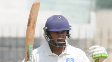 Ganesh Satish was part of a 243-run stand for the sixth wicket