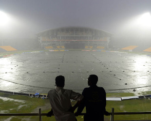 The fifth ODI, like all other matches in the series, was affected by rain, Sri Lanka v New Zealand, 5th ODI, Hambantota, November 12, 2012