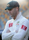 Michael Clarke reflects at the draw, Australia v South Africa, 1st Test, Brisbane, 5th day, November 13, 2012