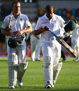 AB de Villiers and Vernon Philander walk off after the draw, Australia v South Africa, 1st Test, Brisbane, 5th day, November 13, 2012