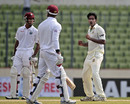Shahadat Hossain celebrates Kieran Powell's dismissal, Bangladesh v West Indies, 1st Test, Mirpur, 1st day, November 13, 2012
