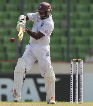 Shivnarine Chanderpaul pulls, Bangladesh v West Indies, 1st Test, Mirpur, 2nd day, November 14, 2012