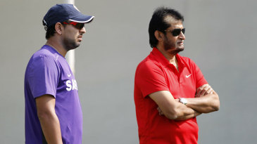 Yuvraj Singh with India's chief selector, Sandeep Patil