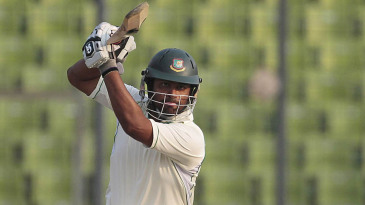 Tamim Iqbal plays an off drive