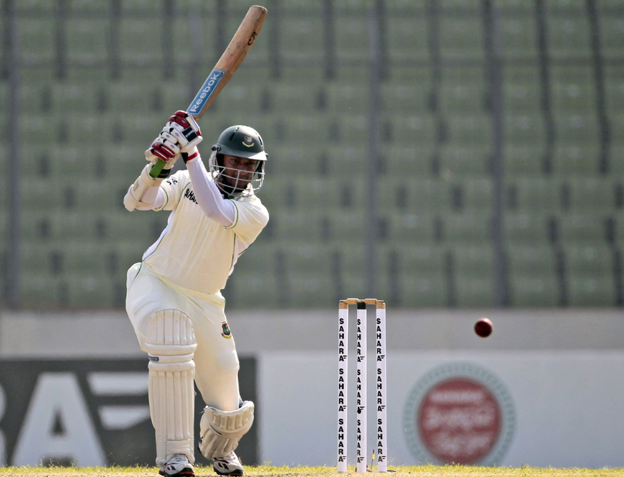 Shakib Al Hasan drives