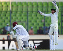 Mushfiqur Rahim appeals for lbw against Darren Sammy