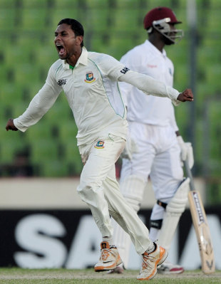 Sohag Gazi took the best figures by a Bangladesh Test debutant