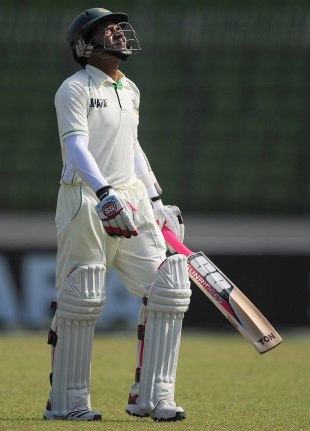 Mushfiqur Rahim walks off after his dismissal, Bangladesh v West Indies, 1st Test, Mirpur, 5th day, November 17, 2012