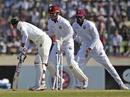 Nasir Hossain was bowled for 21, Bangladesh v West Indies, 1st Test, Mirpur, 5th day, November 17, 2012