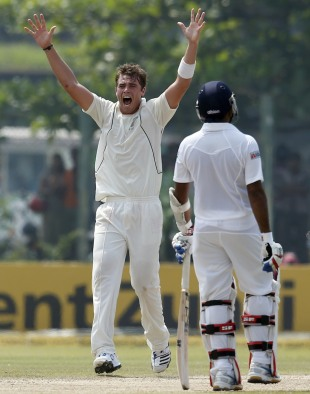 Tim Southee appeals for an lbw against Thilan Samaraweera, Sri Lanka v New Zealand, 1st Test, Galle, 2nd day, November 18, 2012