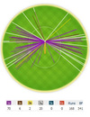 Alastair Cook's wagon wheel after the end of the fourth day