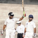 Shrikant Mundhe raises his bat after scoring a half-century, Tamil Nadu v Maharashtra, Ranji Trophy, Group B, 2nd day, Chennai, November 18, 2012