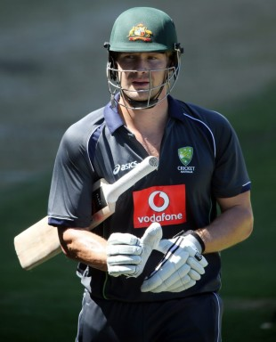 Shane Watson at Australia's training session, Adelaide, November 19, 2012
