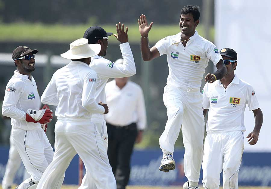 Nuwan Kulasekara struck two early blows on the third day