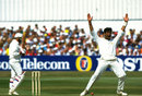 Waqar Younis appeals for a wicket, England v Pakistan, 4th Test, Headingley, 1st day, July 23, 1992