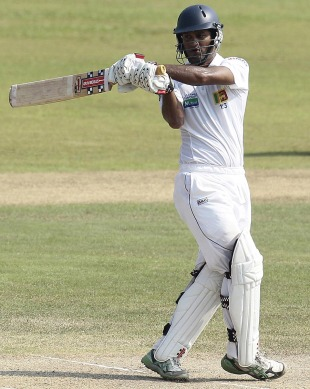 Dimuth Karunaratne scored a quick half-century, Sri Lanka v New Zealand, 1st Test, Galle, 3rd day, November 19, 2012
