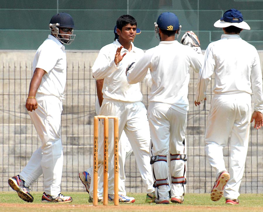 Akshay Darekar took four wickets in the second innings