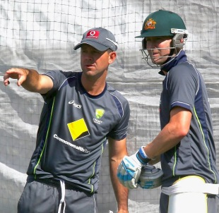 Ricky Ponting and Michael Clarke at Australia's training session, Adelaide, November 20, 2012