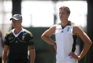 Dale Steyn and Morne Morkel at training, Adelaide, November 20, 2012