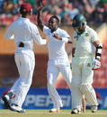Fidel Edwards made the first breakthrough, Bangladesh v West Indies, 2nd Test, Khulna, 1st day, November 21, 2012