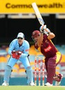 Peter Forrest drives one down the ground, Queensland v New South Wales, Ryobi Cup, Brisbane, November 21, 2012