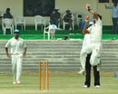 Kerala bowler Perumparambath Anthaf took four wickets, Kerala v Assam, Ranji Trophy, Group C, 4th day, Malappuram, November 20, 2012