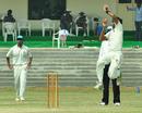 Kerala bowler Perumparambath Anthaf took four wickets, Kerala v Assam, Ranji Trophy, Group C, 4th day, Malappuram, November 20, 2012