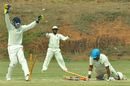 Assam captain Dheeraj Jadhav was run out for 98