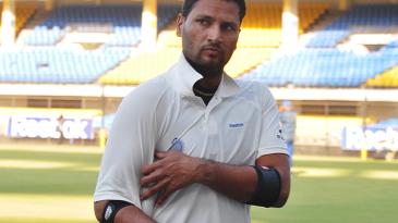 Devendra Bundela walks back