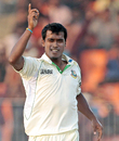 Rubel Hossain dismissed Marlon Samuels a while before stumps, Bangladesh v West Indies, 2nd Test, Khulna, 3rd day, November 23, 2012