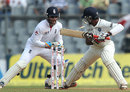 Cheteshwar Pujara is stumped by Matt Prior