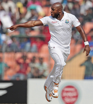 Tino Best gestures after getting Naeem Islam bowled, Bangladesh v West Indies, 2nd Test, Khulna, 4th day, November 24, 2012