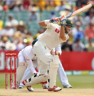 Michael Hussey scored a half-century as Australia retained control of the match on the fourth day