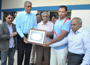 Devendra Bundela is recognised for playing his 100th Ranji match, Madhya Pradesh v Bengal, Ranji Trophy, 1st day, Indore, November 24, 2012