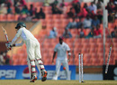Nasir Hossain is bowled by Tino Best for 94, Bangladesh v West Indies, 2nd Test, Khulna, 5th day, November 25, 2012
